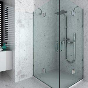Box doccia Quadrata e Rettangolare Battente e Soffietto