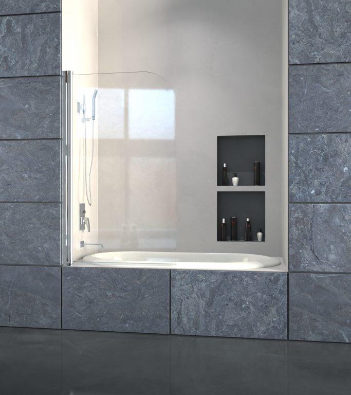 Expertbath it walk in p100 parete fissa su misura per doccia e vasca - Pareti doccia su misura ...