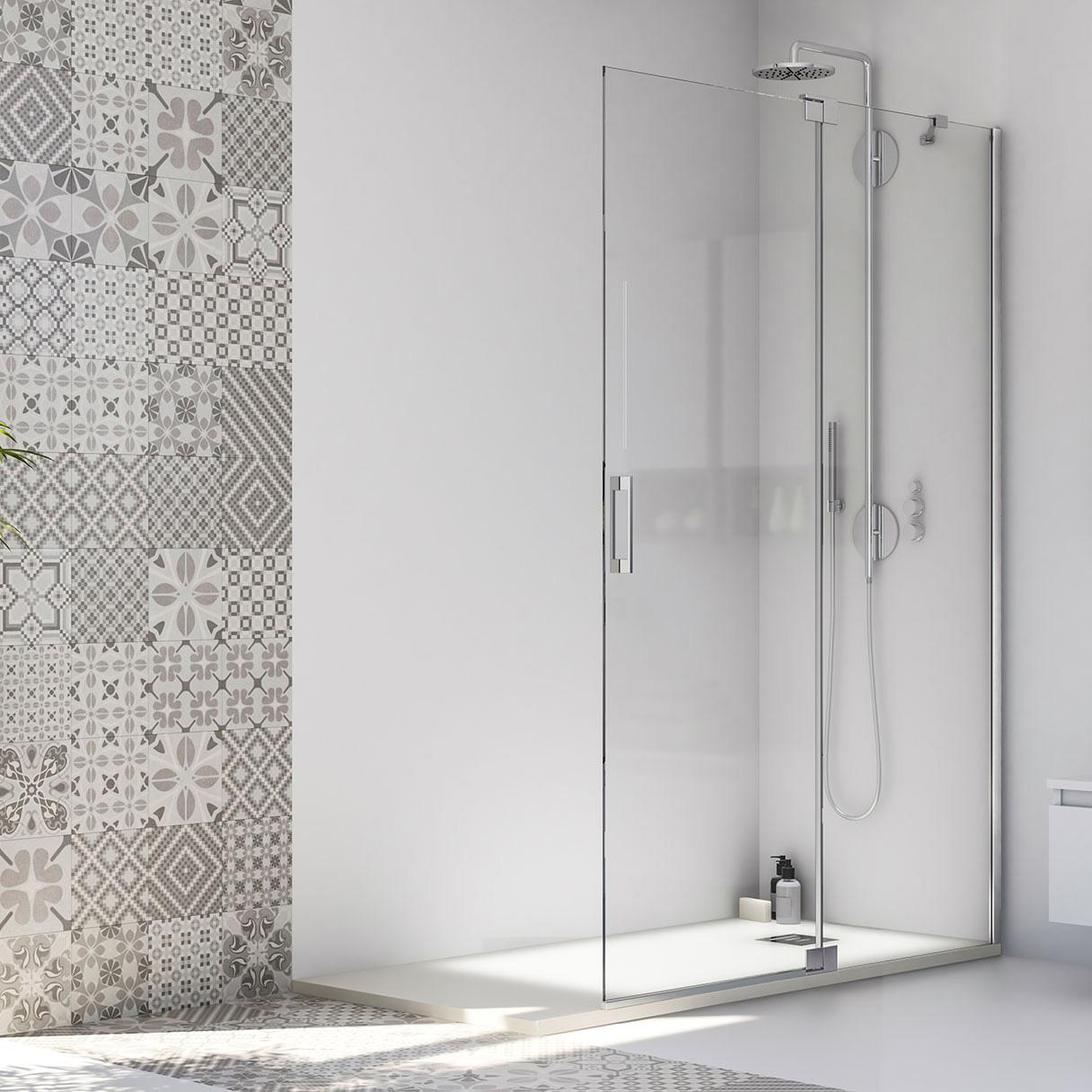 Walk-in B05 Parete fissa su misura per doccia