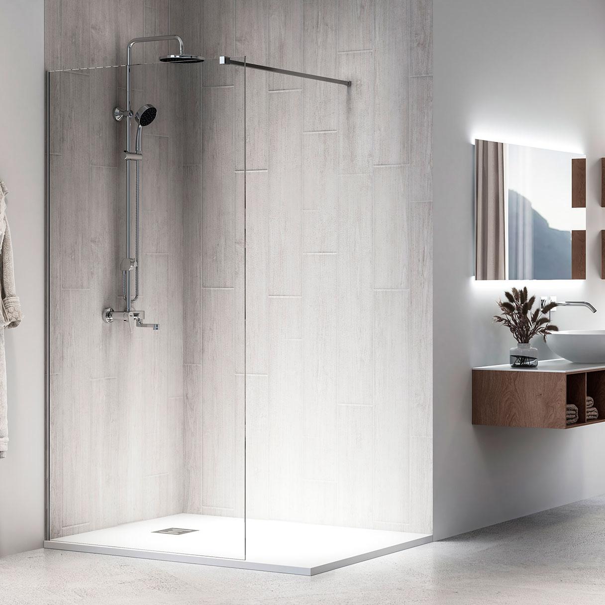 Walk-in I10 Parete fissa su misura per doccia