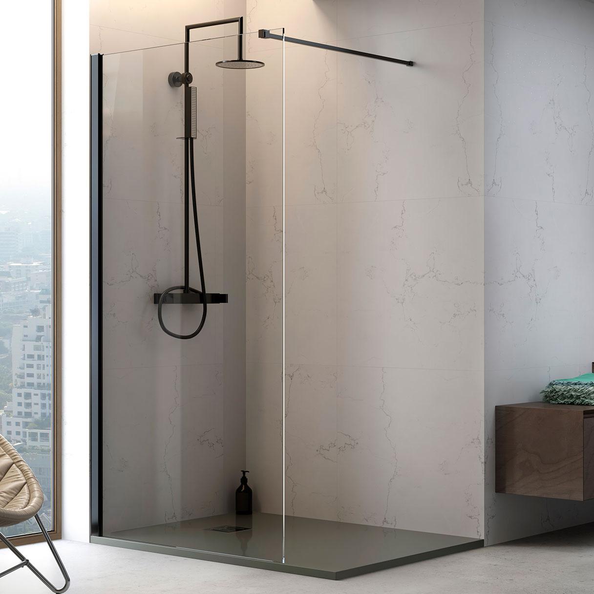 Walk-in P10 Parete fissa su misura per doccia